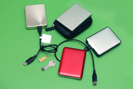Digital memory external hard drives and small flesh drives