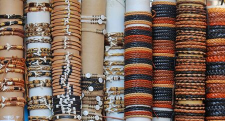 Ornamental bracelets fashion accessories sold on tourist markets