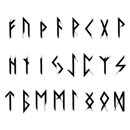 Futhark Runes Black