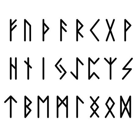 Futhark Runes Blackk