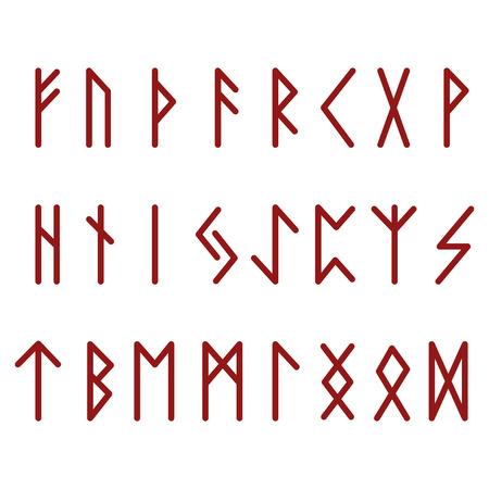 Futhark Runes Red  イラスト・ベクター素材