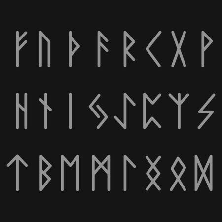 Futhark Runess Black