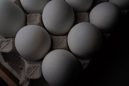 salted eggs in egg panel. proteins food.