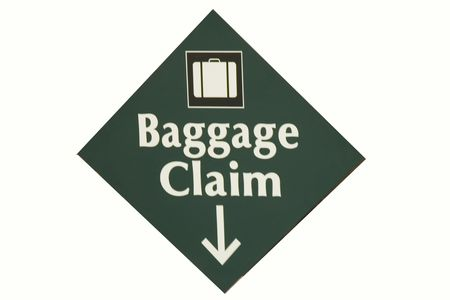 An issolated baggage claim sign photo