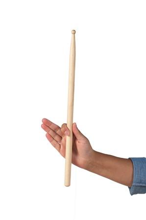 Verticale drumstick met een hand draaipunt Stockfoto - 21590509