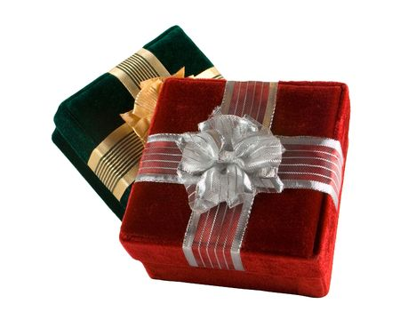 Green and Red Gifts with Clip Path Stock Photo - 646713