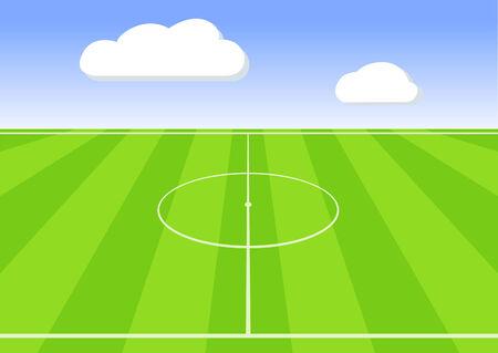 greensward: football stadium on blue sky shine day