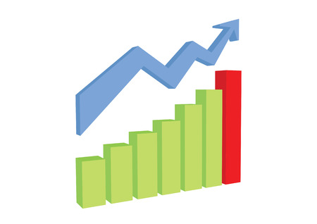 uptrend: uptrend chart graph present on white background