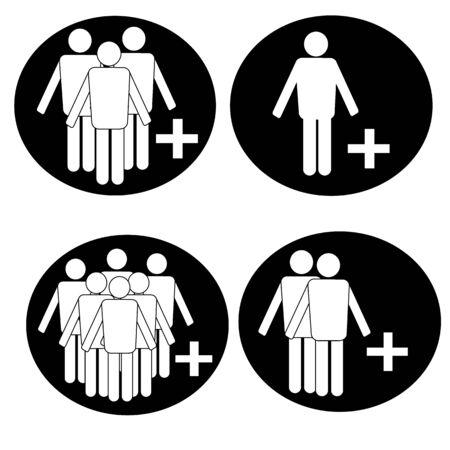 People icons Vetores