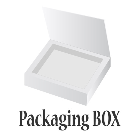 empty box: Open Box For Candy Or Your Idea. Box on White Background Illustration