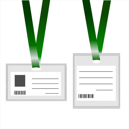 ID Cards Realistic on White Background Illustration