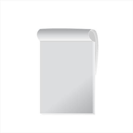 elastic band: Mock up of White Opened Noutebook on White Background Illustration