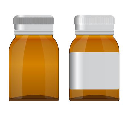a substance vial: Botteles Medicine. Vector illustartion  Realistic Mock up.EPS 10