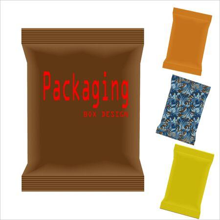 illustartion: Packaging Box Design. Vector Illustartion EPS 10