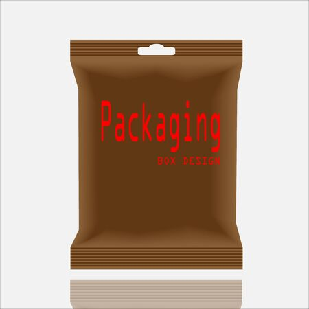 polythene: Packaging Box Design. Vector Illustartion EPS 10
