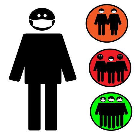 epidemic: Medical mask icon. Epidemic. Vector Illustration. EPS 10