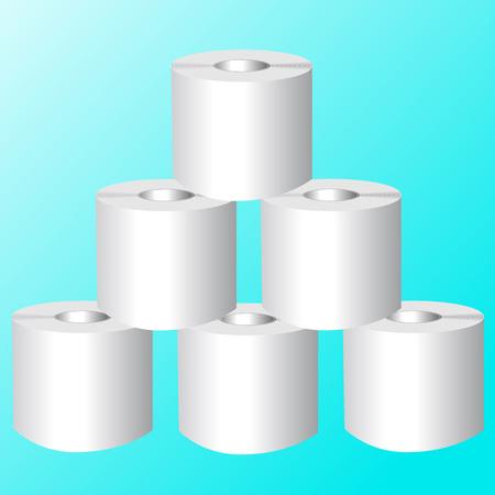 loo: Toilet Roll. Set of Toilet paper. Vector Illustrator EPS 10
