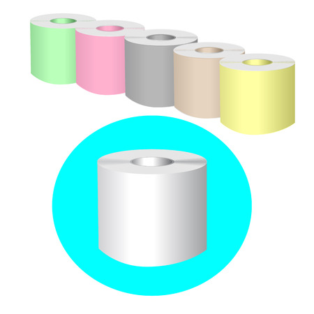 illustrator 10: Toilet Roll. Set of Toilet paper. Vector Illustrator EPS 10