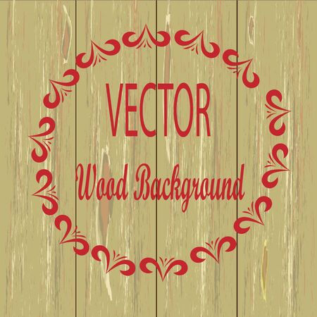 upright: Wood texture Upright Wooden Background. Vector Illustration