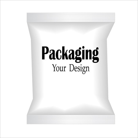 polythene: White Blank Foil Food Snack Sachet Bag Packaging For Coffee, Salt, Sugar, Pepper