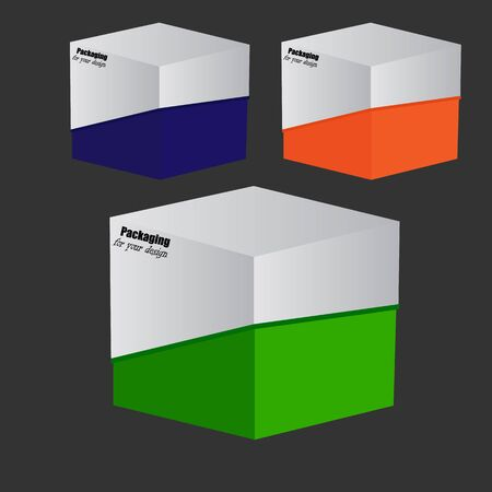 corrugated box: Packaging Box Design. Vector Illustartion EPS 10