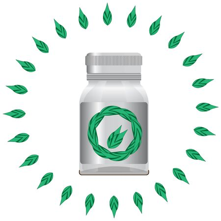 flavorful: Alternative medicine. Bottle for your design. Vector Illustartion EPS 10 Illustration