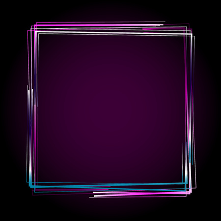 rainbow cocktail: Glowing frame. Vector illustration EPS 10