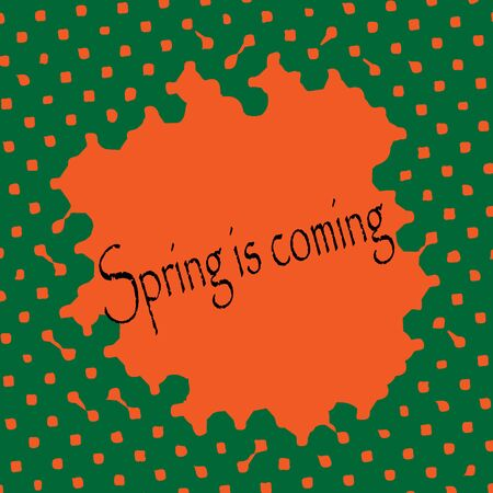 spring time: Abstract vector background. Spring time.