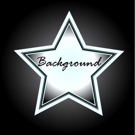 show bussiness: Retro black white star on stand. Design element for your advertising banner. An empty space ready for your text or product. Vector illustration Illustration