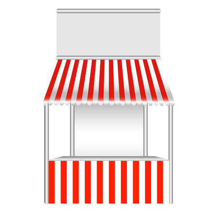 stall: Detailed vector illustration of a stall.
