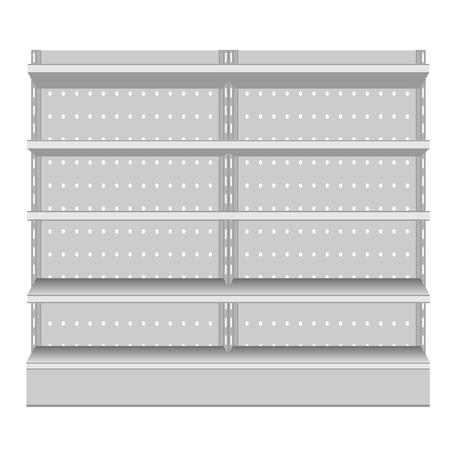 Realistic supermarket shelf. Vector illustration EPS10