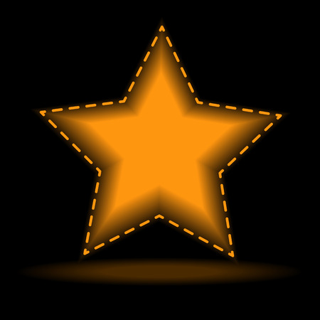 yellow star: Five-pointed yellow star.