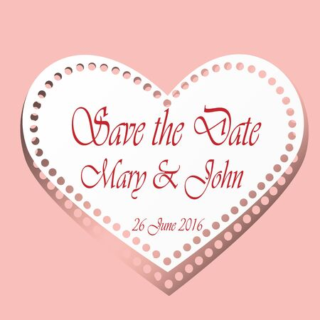 Save the date cards with paper heard.