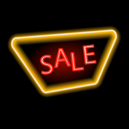 neon sign: Sale glowing neon sign.