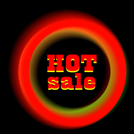 the hot: Hot sale. Sale banner.