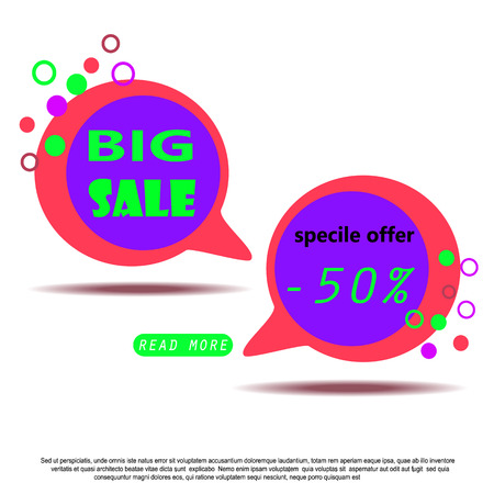 Colorful Sale Banner with text.