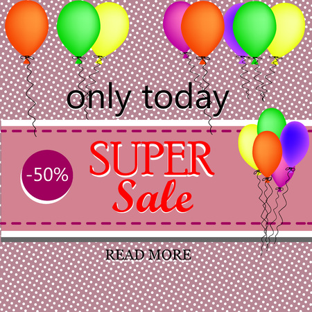 best ad: Sale background with balloons.