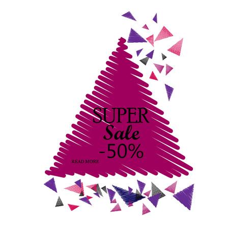 triangular banner: Triangular Sale Banner. Vector Illustration. Illustration