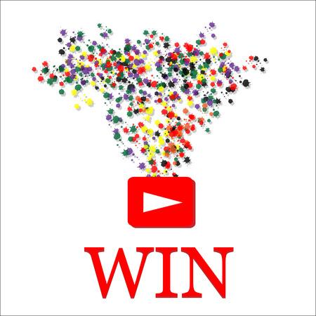 Win background. color background illustration