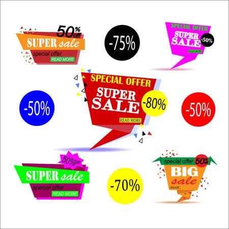 house clearance: Super Sale paper banner. Sale background.  Big sale.  Sale tag.  Sale poster. Sale vector. Super Sale and special offer. Vector illustration. Illustration