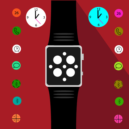 intellectual: Set of Intellectual watches. Vector illustration Illustration