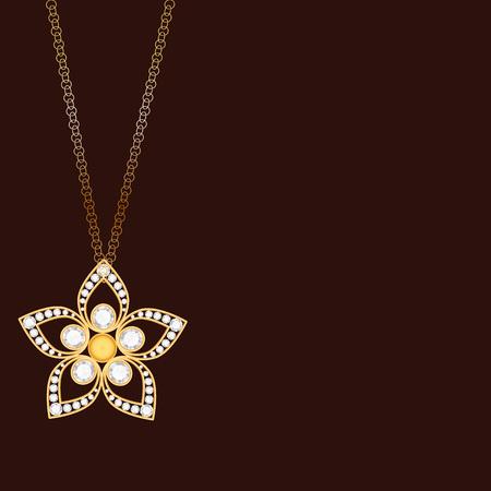 diamond background: Vintage gold jewelry background. Diamond background. Golden background.
