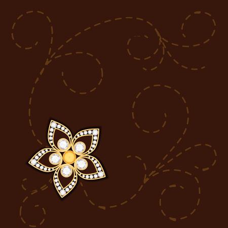 jewelry background: Vintage gold jewelry background. Diamond background. Golden background.