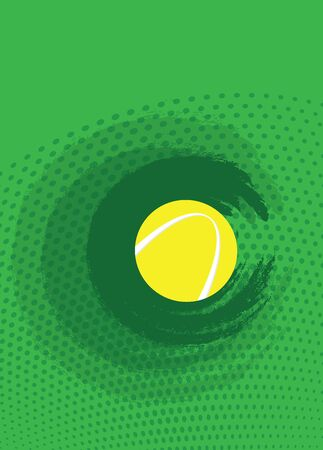 individual color: Tennis ball on a green background