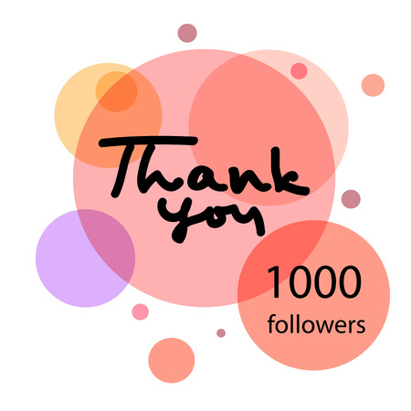 Thank you . Thank you 10 K followers. Web design for site, network, social networks. illustration