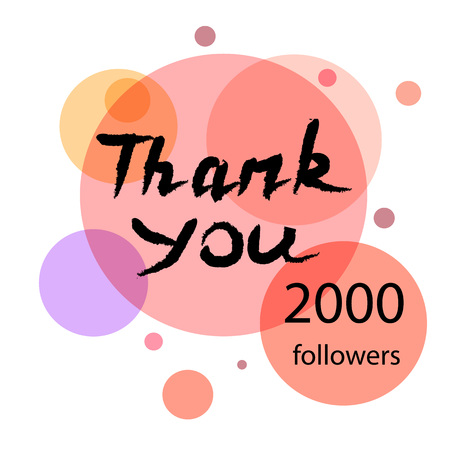 subscriber: Thank you hand draw. Thank you followers. Thank you handwritten vector illustration, pen lettering isolated. Web design for site, network, social networks. Vector illustration