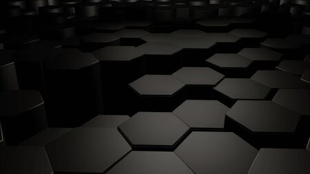 vj: Abstract hexagon background.