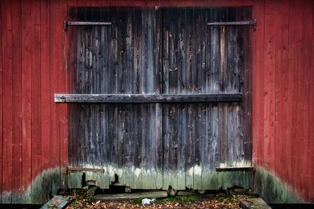 Very old and rustic barn door photo