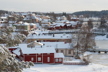 City of Porvoo in Finland in winter time Stock Photo - 22005154