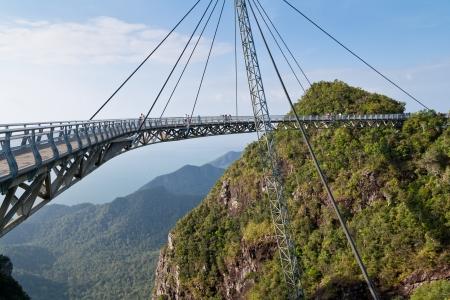 Hanging bridge of Langkawi island, Malaysia